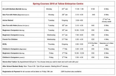 Spring Classes 2018