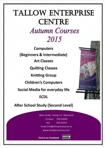 autumn classes 2015 poster