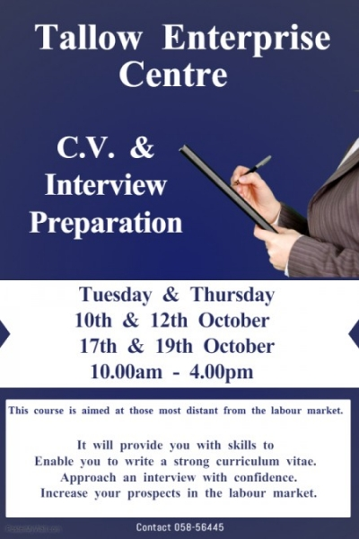 cv preparation poster